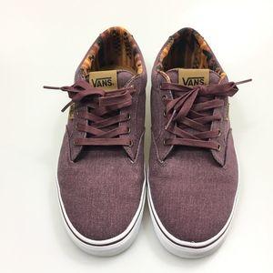 259f6b0c53 Vans Shoes - Vans Size 11M Winston Burgundy Washed Canvas